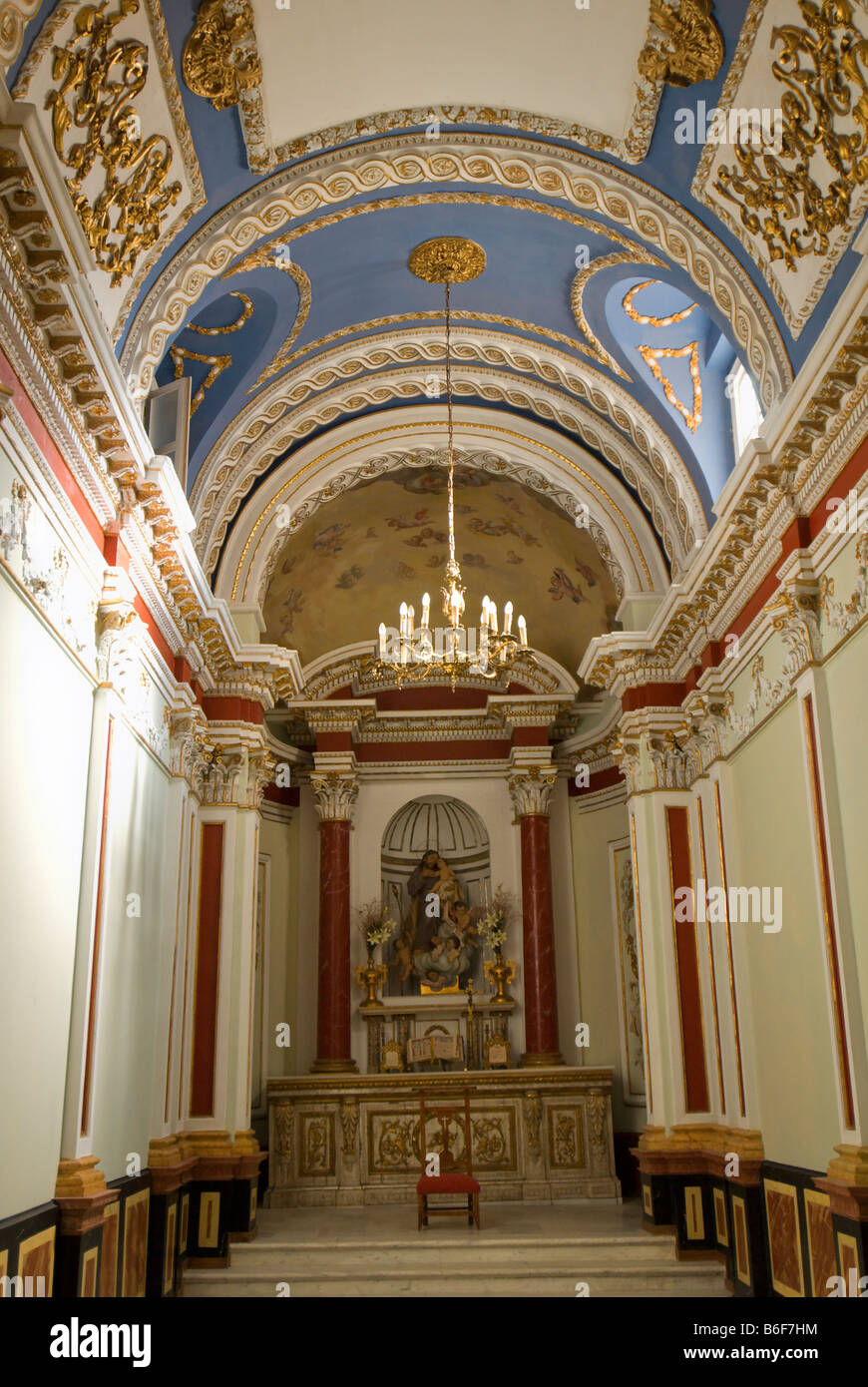 Neoclassical chapel inside the City Museum of Valencia building Spain Museo de la Ciudad - Stock Image