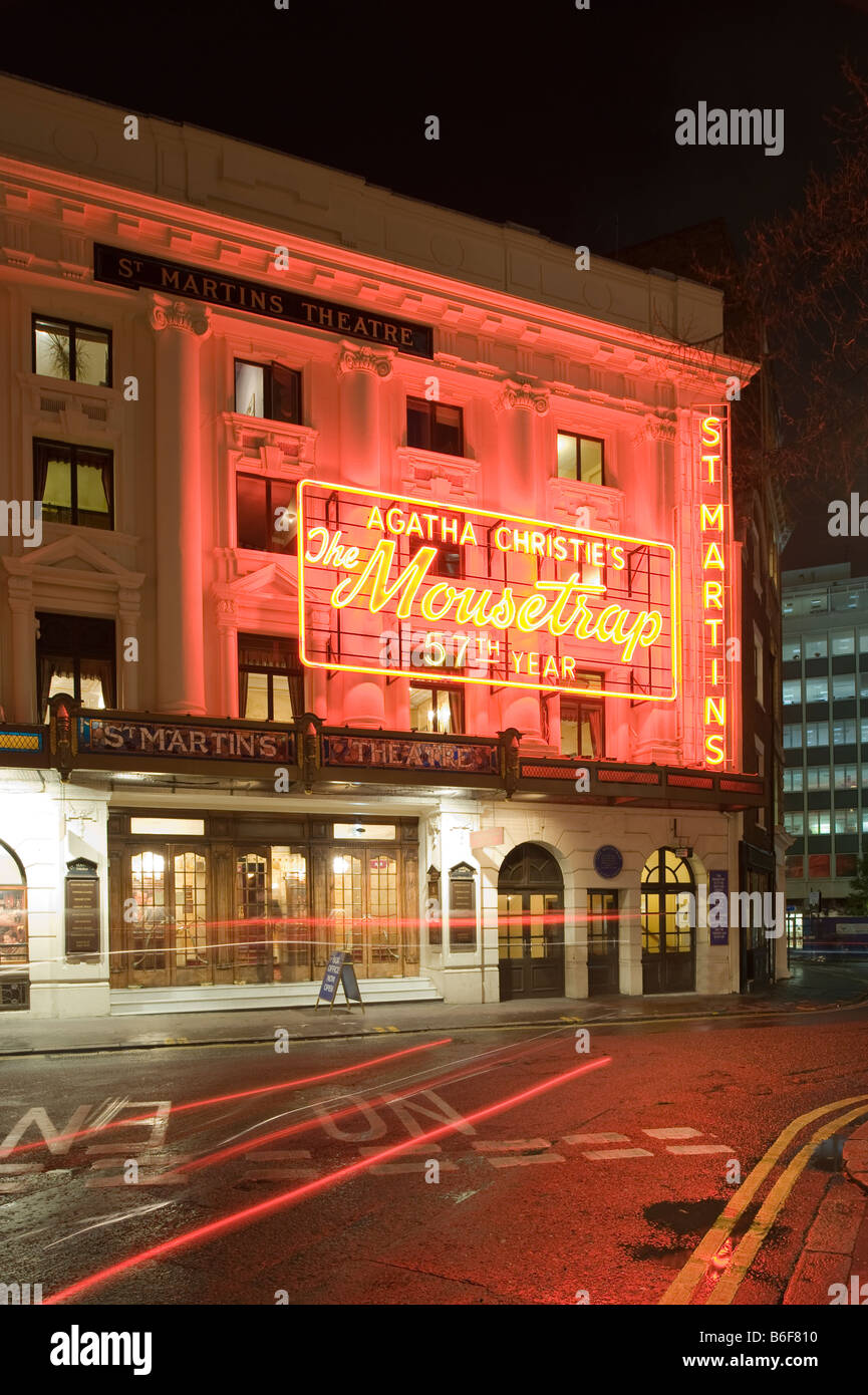 The Mousetrap by Agatha Christie in St Martins Theatre West End London United Kingdom - Stock Image