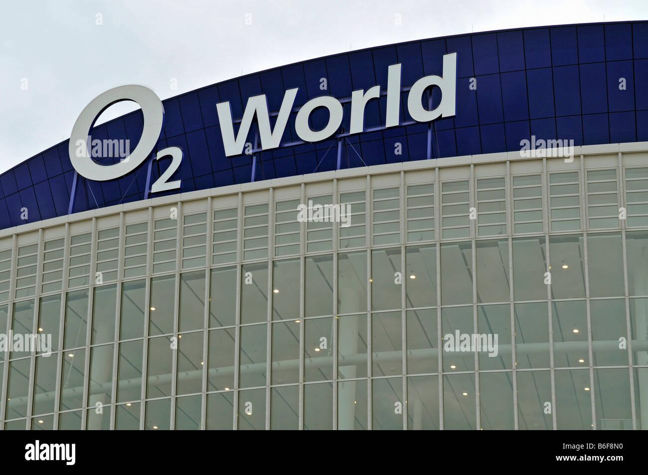 Logo, O2 World, Berlin, Germany, Europe - Stock Image