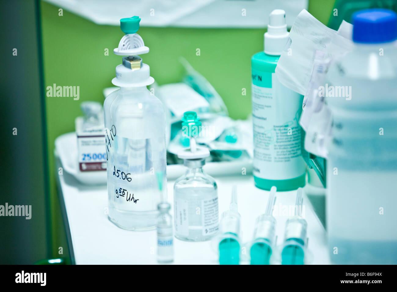 Operating room paraphernalia in a hospital Stock Photo
