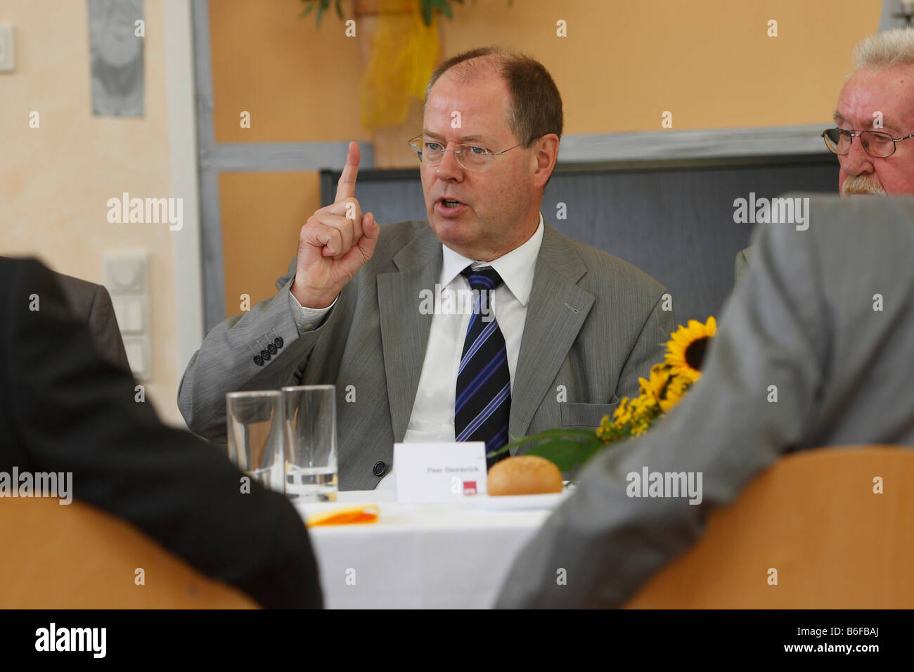 Federal Minister of Finance, Peer Steinbrueck, Roesrath, North Rhine-Westphalia, Germany, Europe - Stock Image