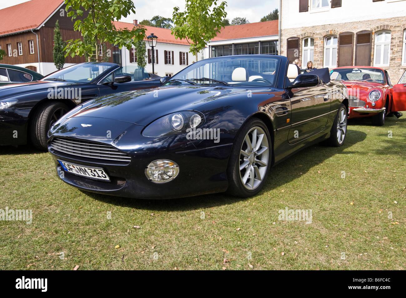 Aston Martin DB7 Vantage Volante 12 cylinder, Aston Martin Meet, Lower Saxony, Germany, Europe - Stock Image