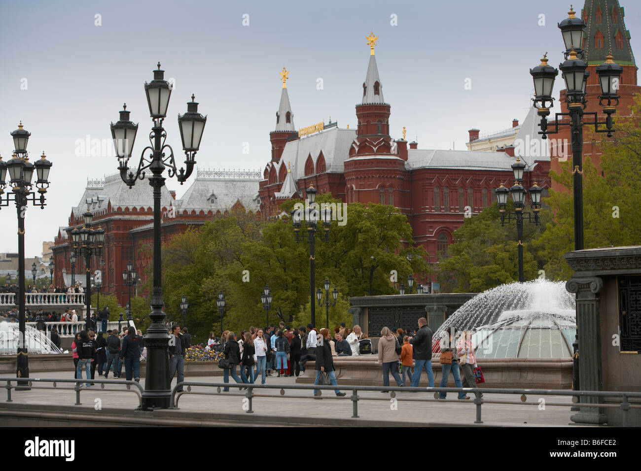 Red Square during, Victory Day Celebration, Moscow Russia - Stock Image