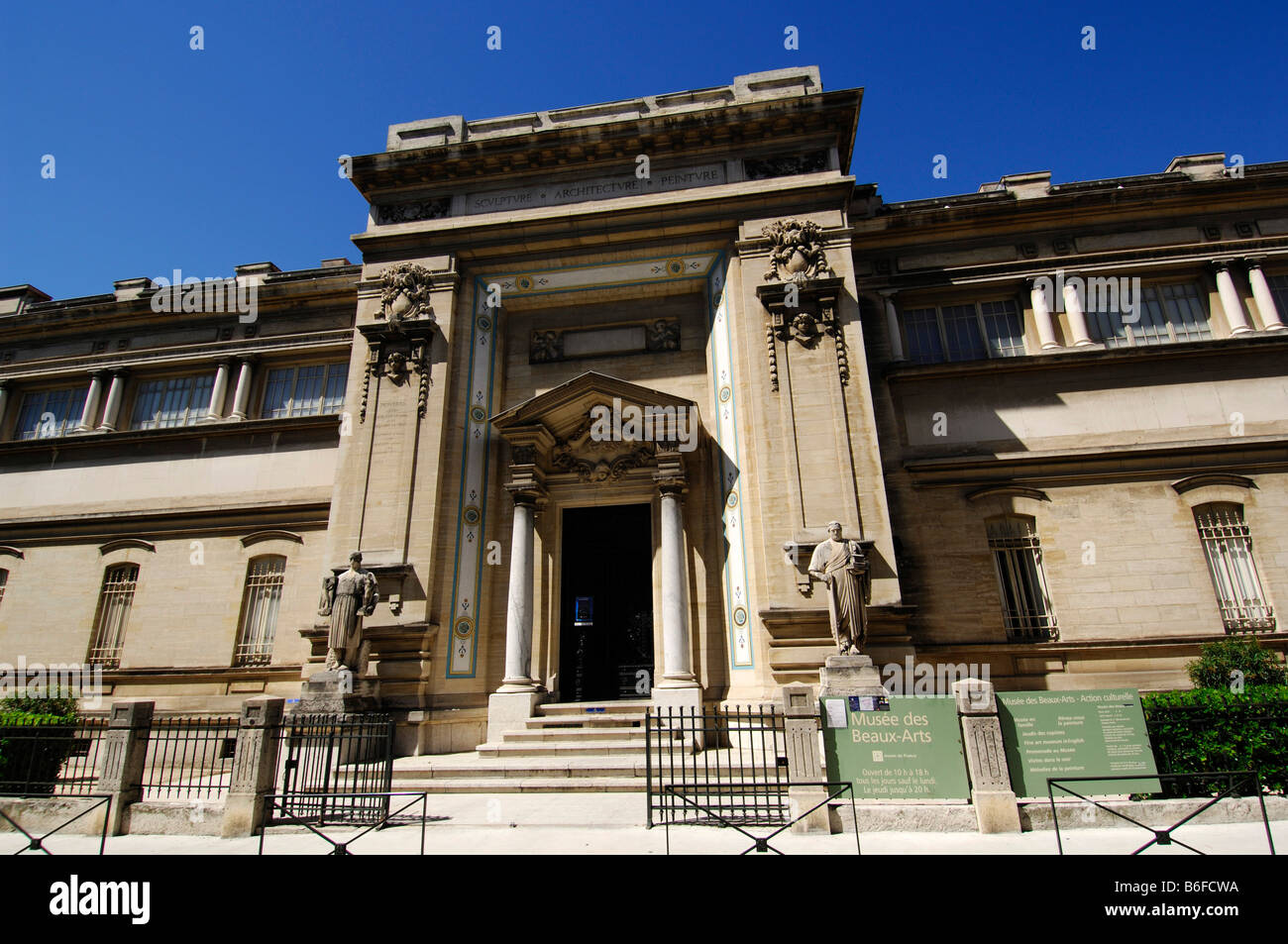 Museum of Fine Arts, Nîmes, Provence, France, Europe - Stock Image