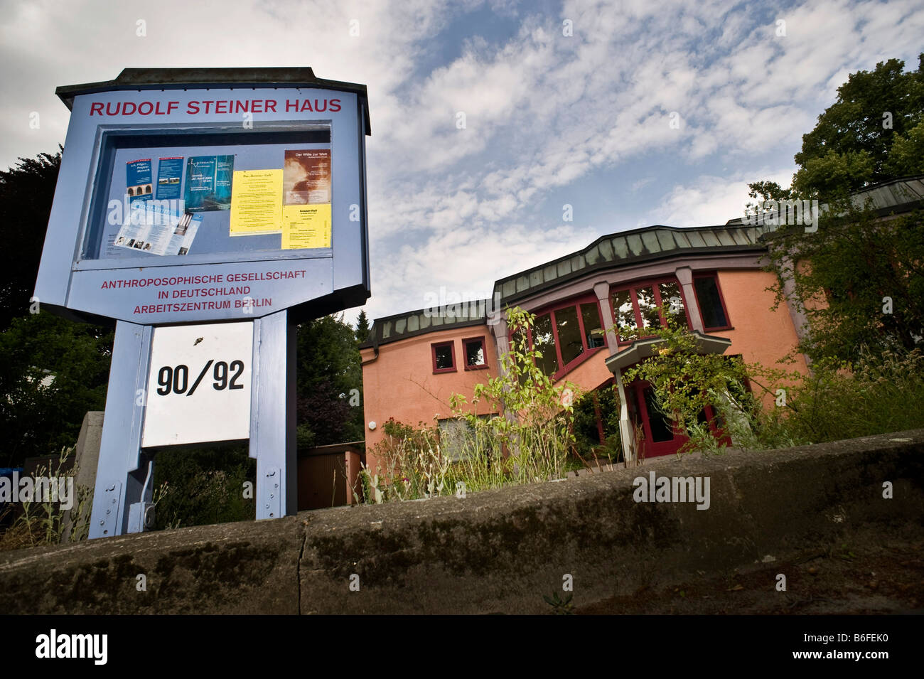 Rudolf Steiner House of the Anthroposophical Society in Germany, Working Center Berlin, Germany, Europe - Stock Image