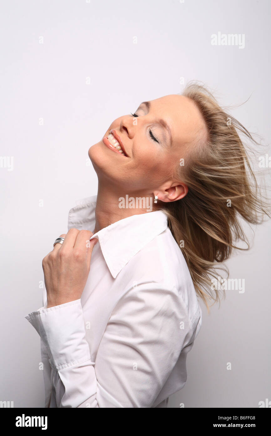 40 year-old woman in her prime - Stock Image