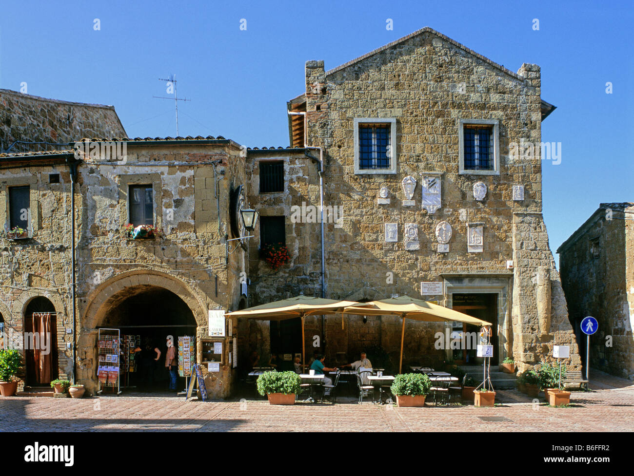 Palazzo Pretorio, Sovana, Grosseto province, Tuscany, Italy, Europe - Stock Image