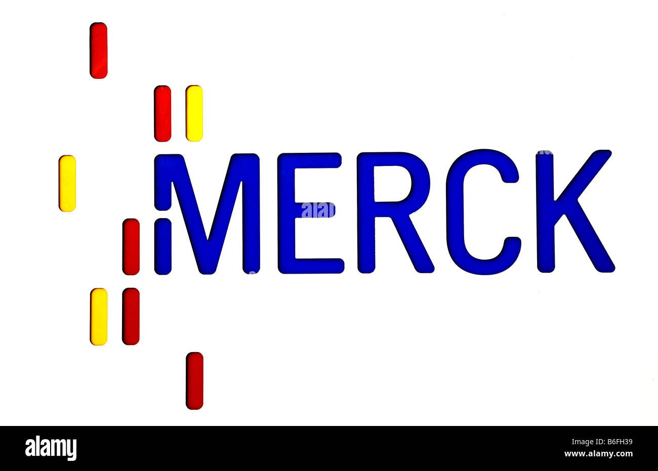Logo of Merck KGaA, Darmstadt, Hessen, Germany, Europe - Stock Image