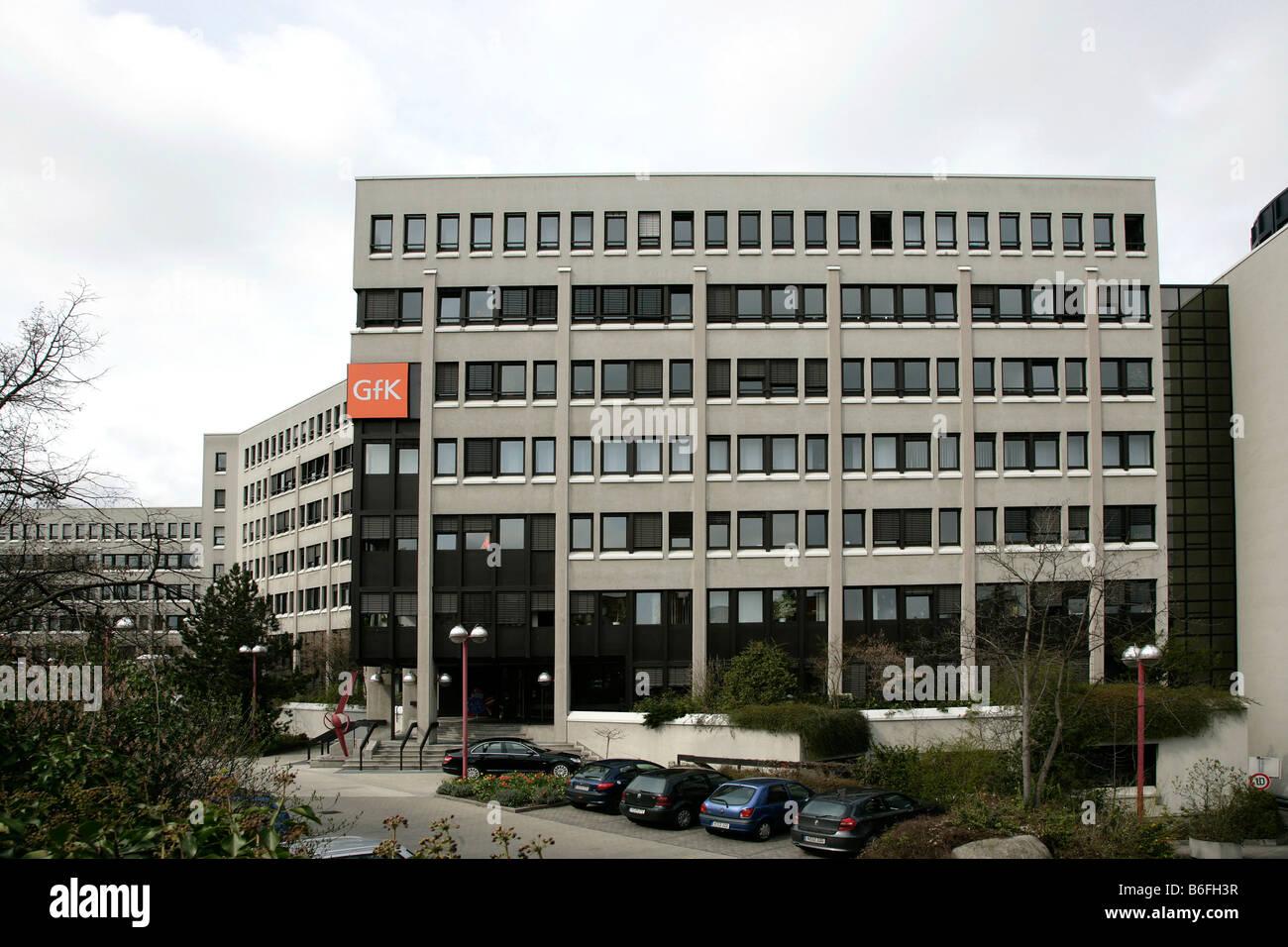 Head office of the GfK AG, Gesellschaft fuer Konsumforschung or Consumer Research Enterprise, in Nuremberg, Bavaria, Stock Photo