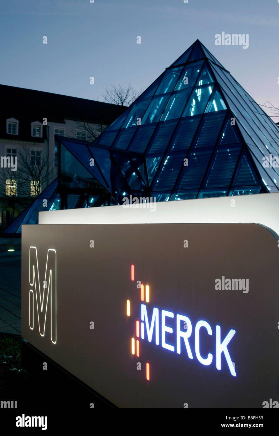 Corporate headquarters of Merck KGaA, Darmstadt, Hessen, Germany, Europe - Stock Image