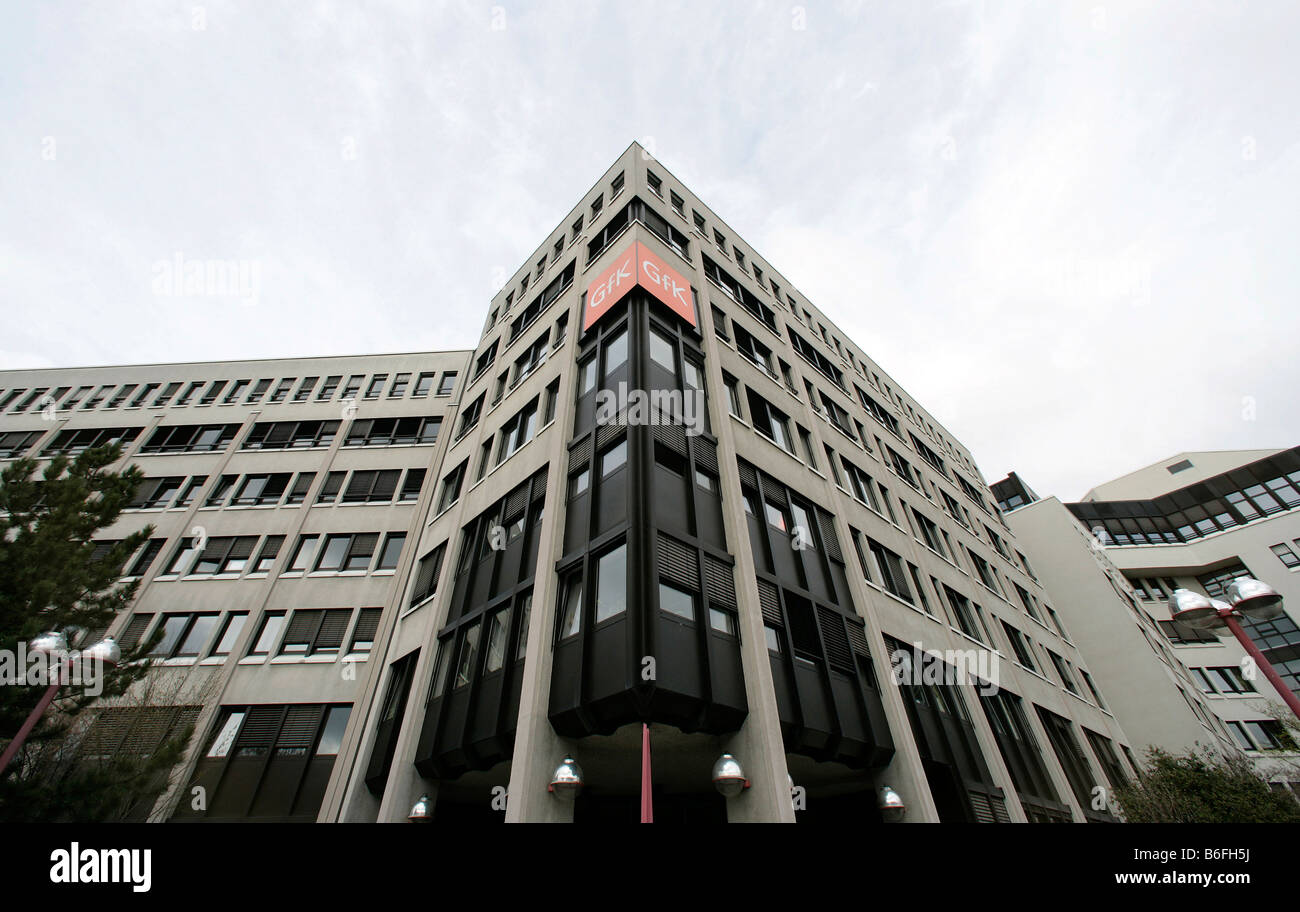 Head office of the GfK AG, Gesellschaft fuer Konsumforschung or Consumer Research Enterprise, in Nuremberg, Bavaria, - Stock Image