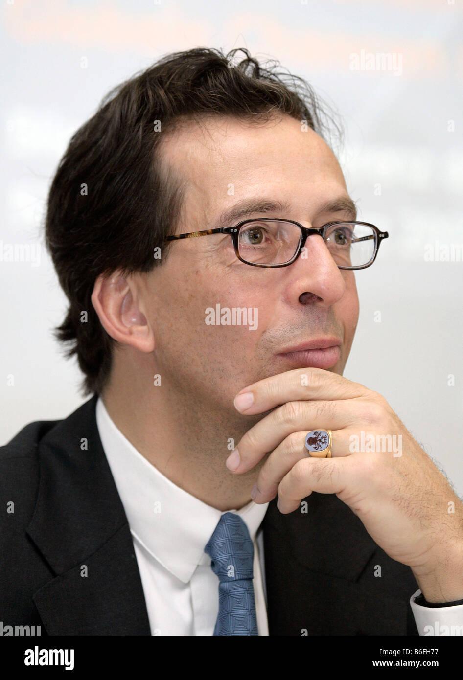 Christian Weller von Ahlefeld, Finance Director of the GfK AG, Gesellschaft fuer Konsumforschung or Consumer Research - Stock Image