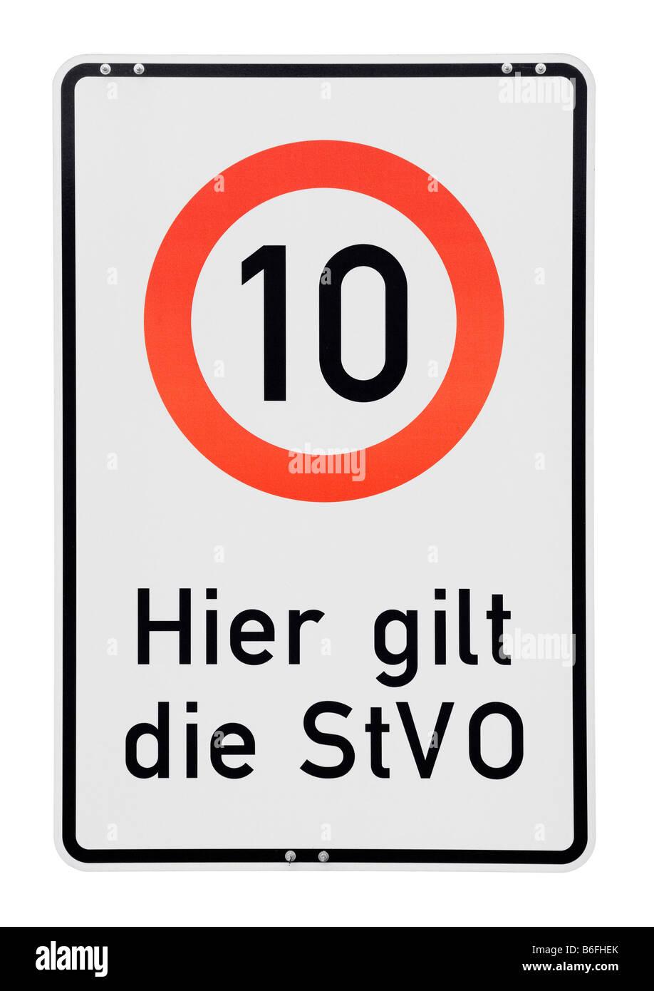 Traffic sign, Hier gilt die StVO, - Stock Image
