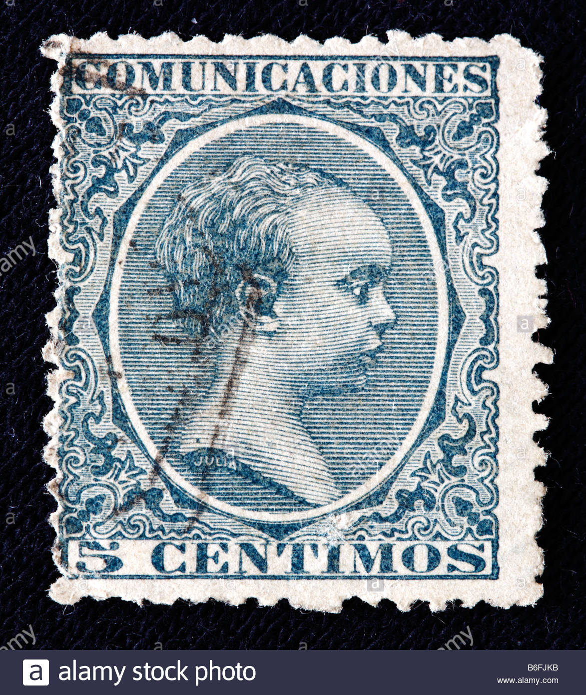 King Alfonso XIII Of Spain 1886 1931 Postage Stamp