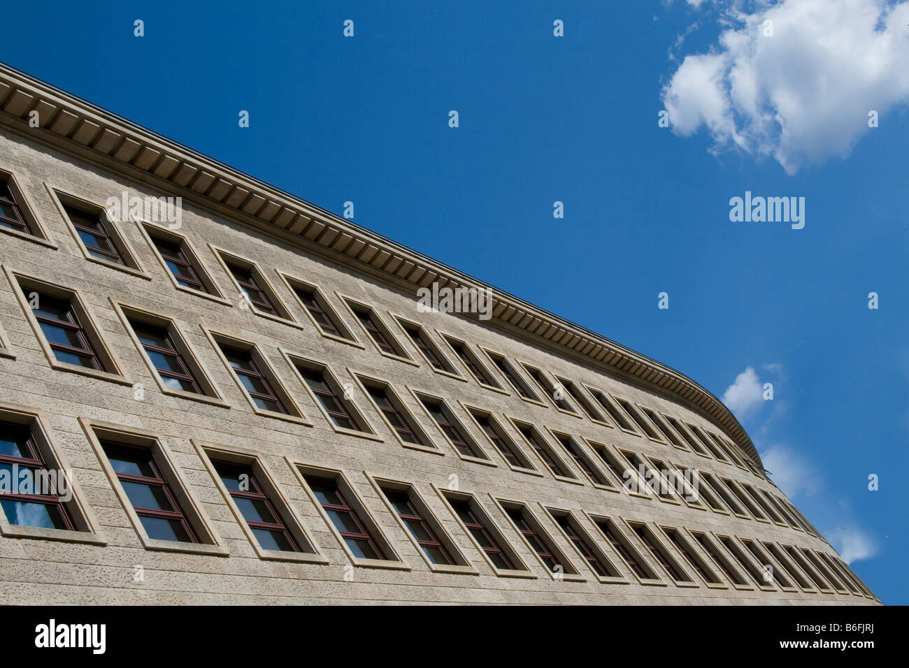 Office building, partial view, Berlin, Germany, Europe - Stock Image