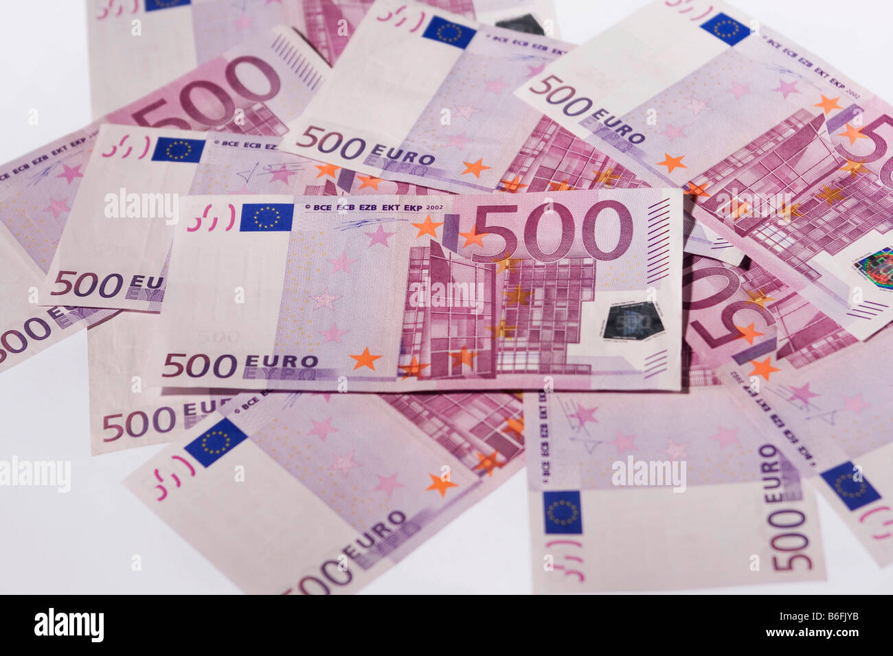 500 Euro bank notes - Stock Image