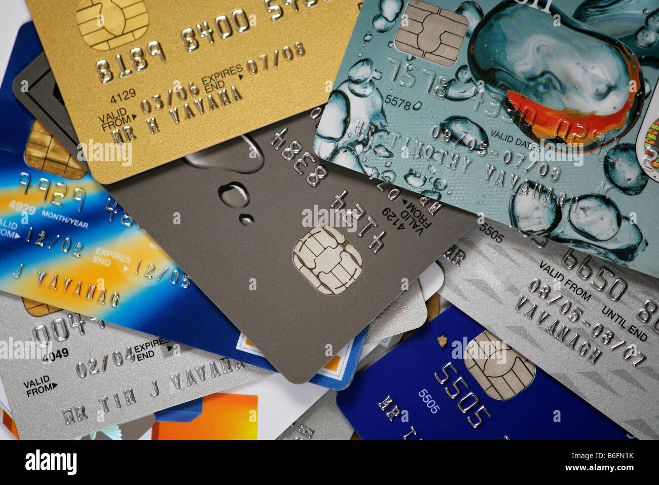 A selection of credit cards - Stock Image