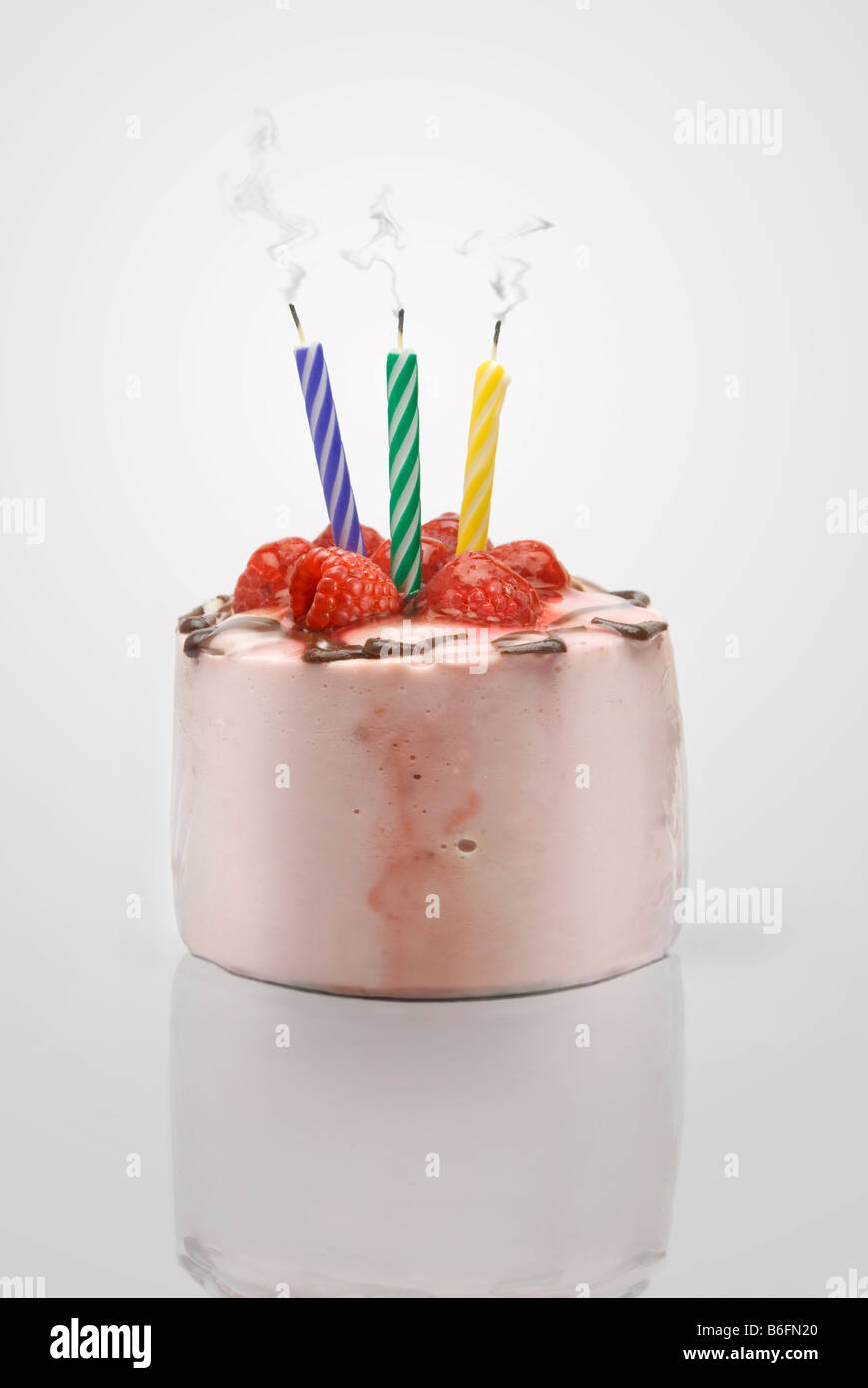 Birthday Cake Smoking Candle Stock Photos Birthday Cake Smoking