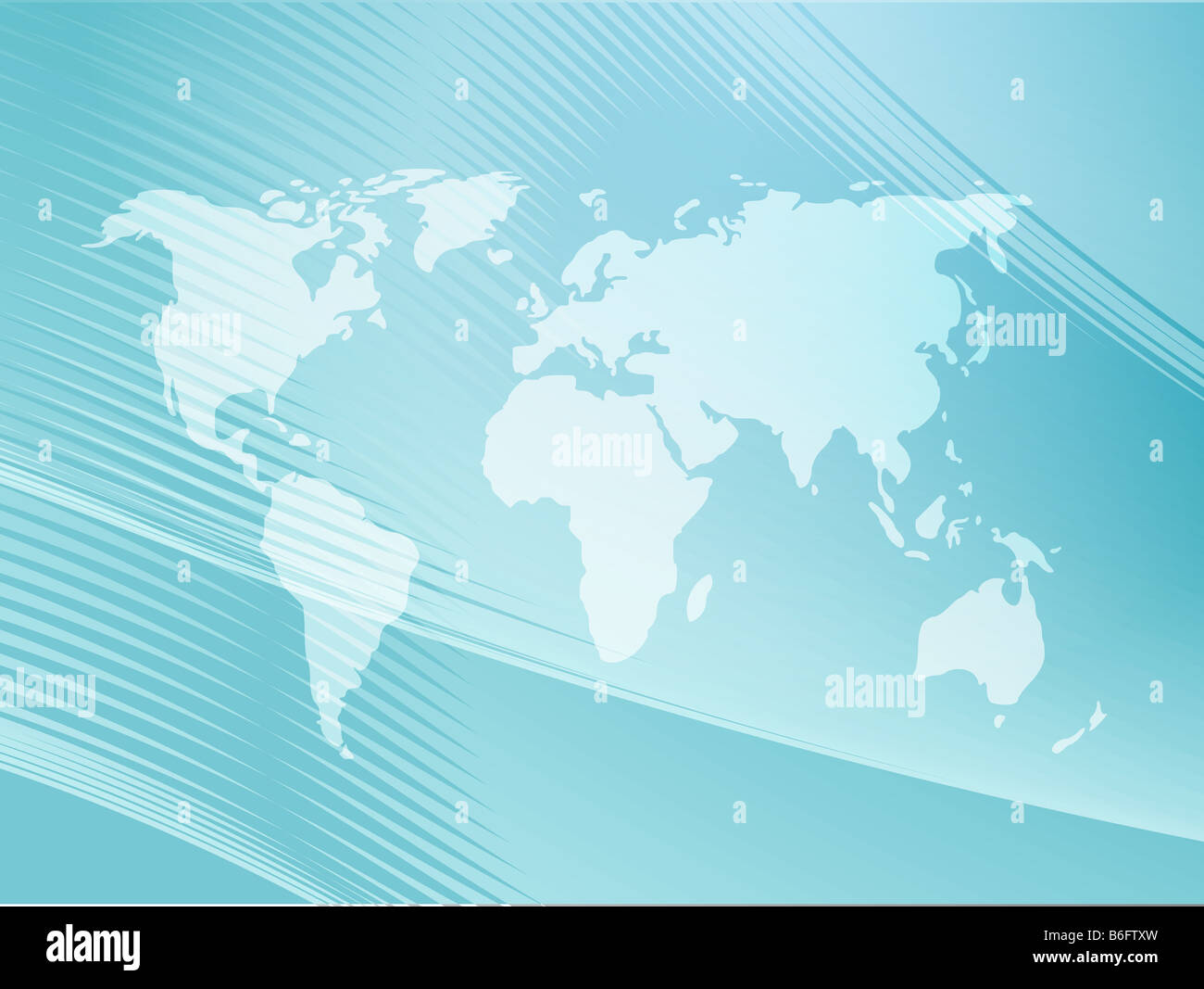 Map of the world illustration with abstract curved lines