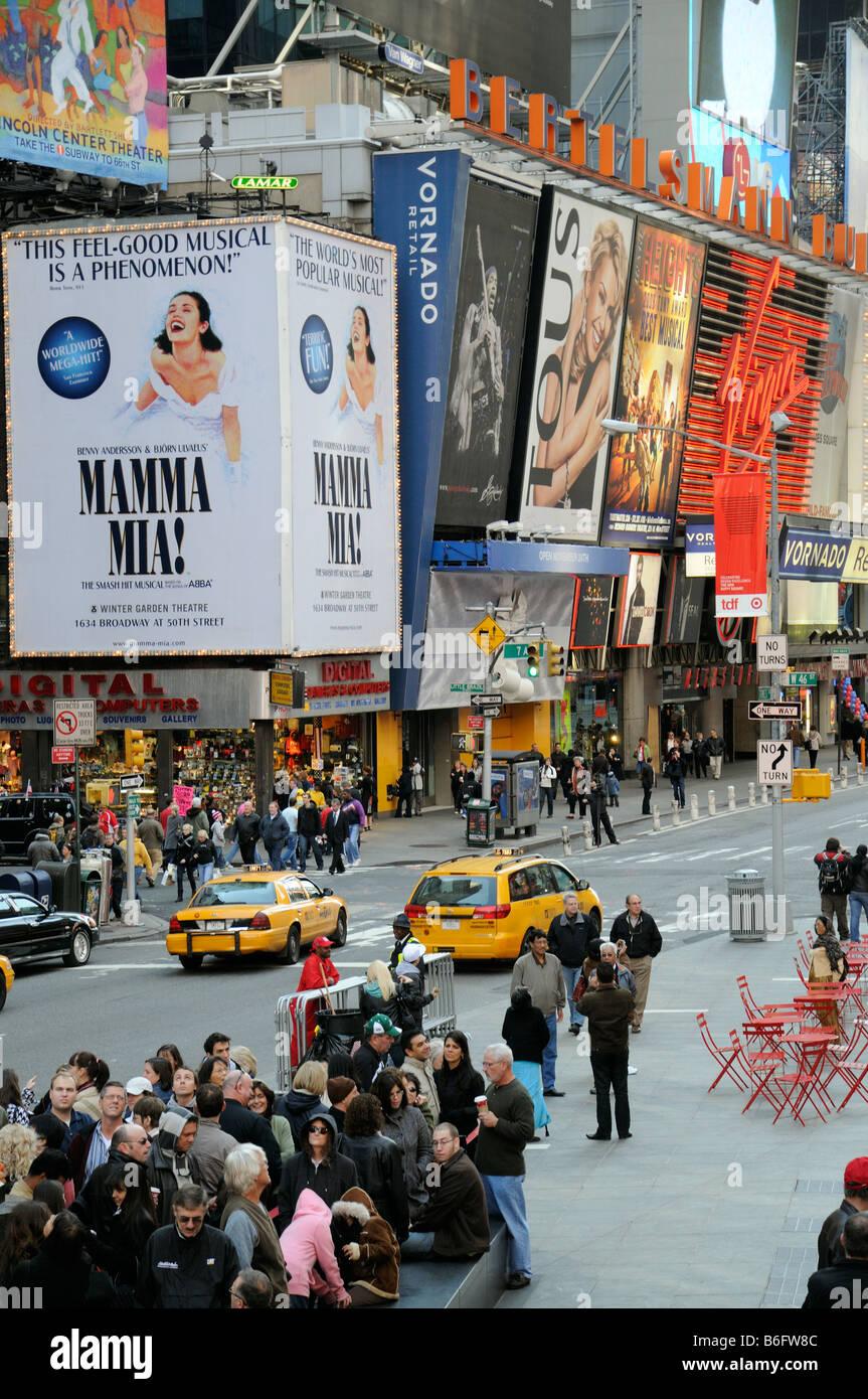 Broadway Manhattan New York USA - Stock Image