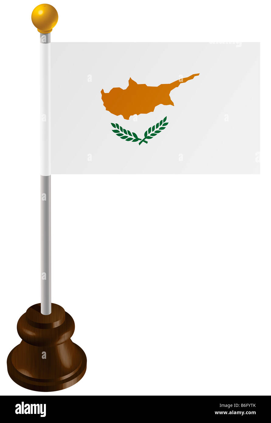 Cyprus flag as a marker - Stock Image
