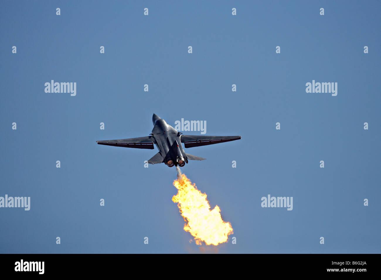 General Dynamics F 111 Swing Wing Jet Fighter RAAF - Stock Image