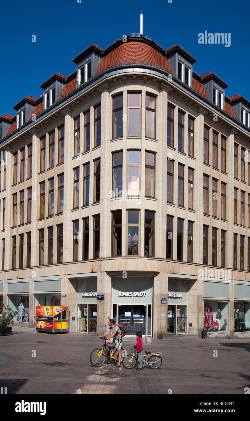 The Karstadt deparment store building Wismar Germany - Stock Image