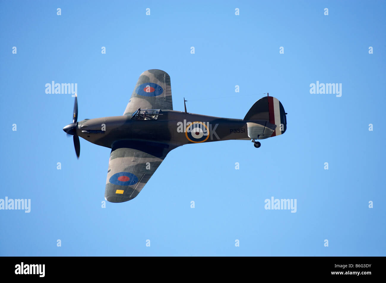 Hawker Hurricane British and allied WWII Fighter Plane Stock Photo
