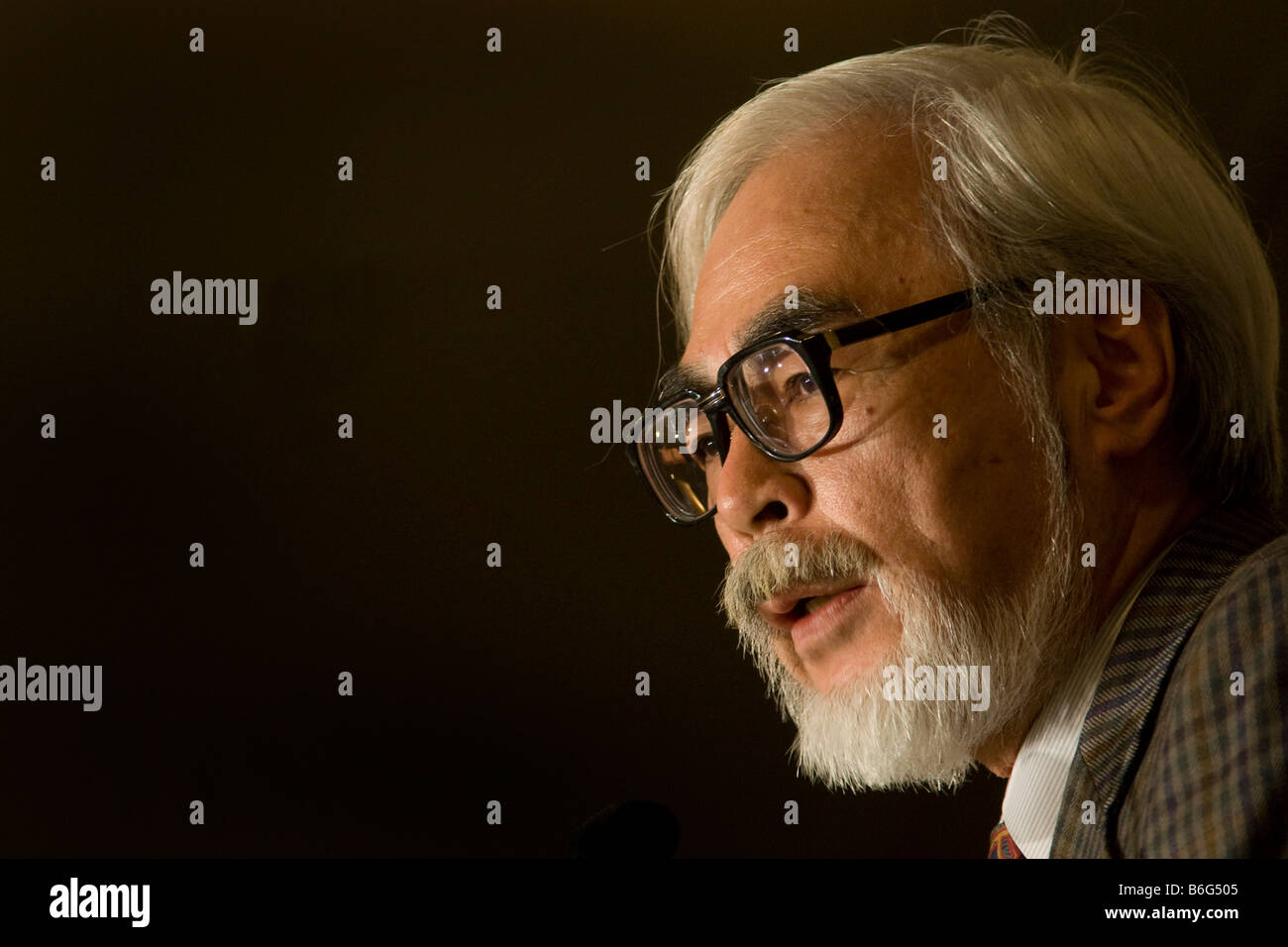 Hayao Miyazaki world famous film director and animator Stock Photo