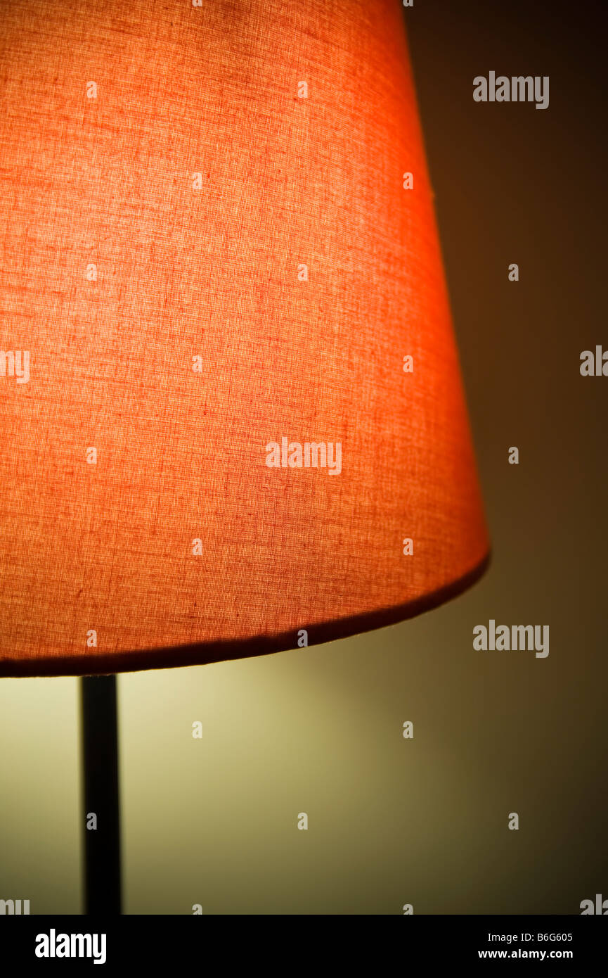 Close-up of red lamp. - Stock Image