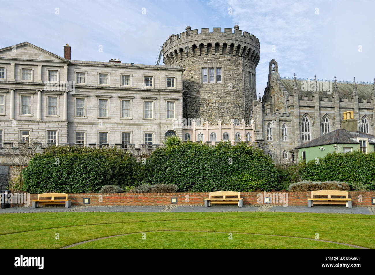 State apartments Norman tower Chapel Royal Dublin castle - Stock Image