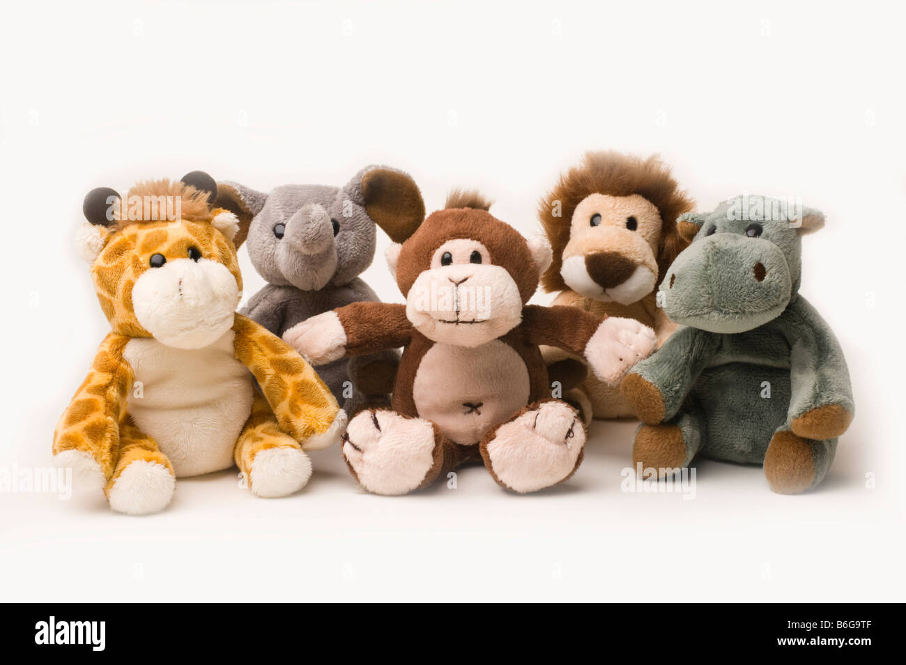 Children's soft toys on a white background (Not Cut Out) Stock Photo