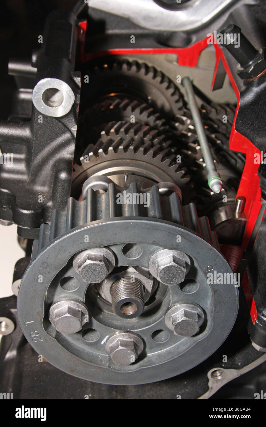 Motorcycle Engine Gearbox Stock Photos Gear Box Of Cut Away View And Final Drive Cog In Modern