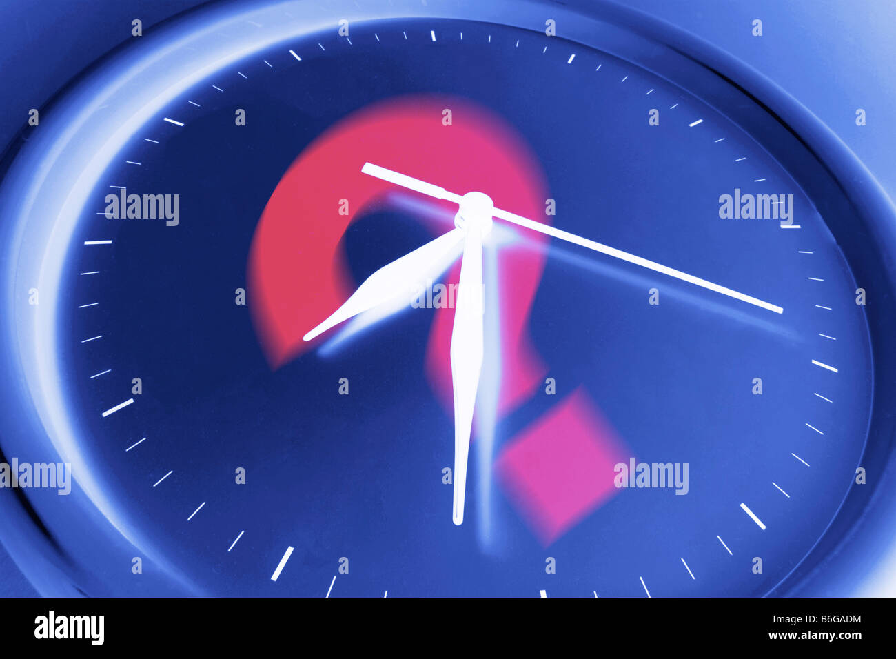 Question Mark on Wall Clock - Stock Image