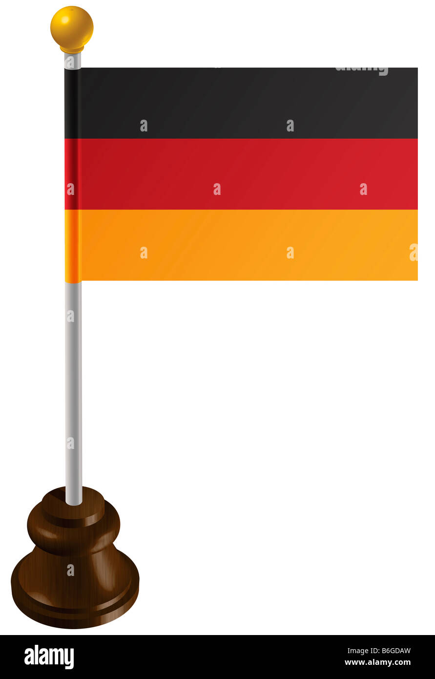 German flag as a marker - Stock Image