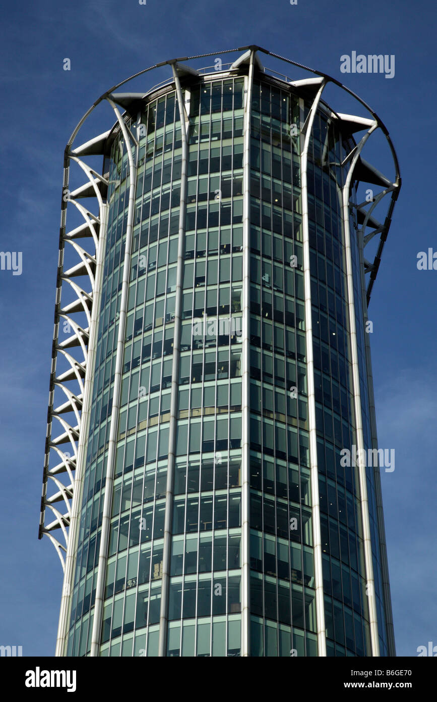 Close-up image of  Citypoint, a high-rise office building on Ropemaker Street, City of  London - Stock Image