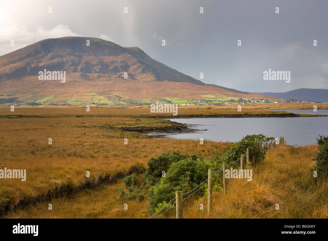 Corraun Peninsula and Achill Island, County Mayo, Republic of Ireland - Stock Image