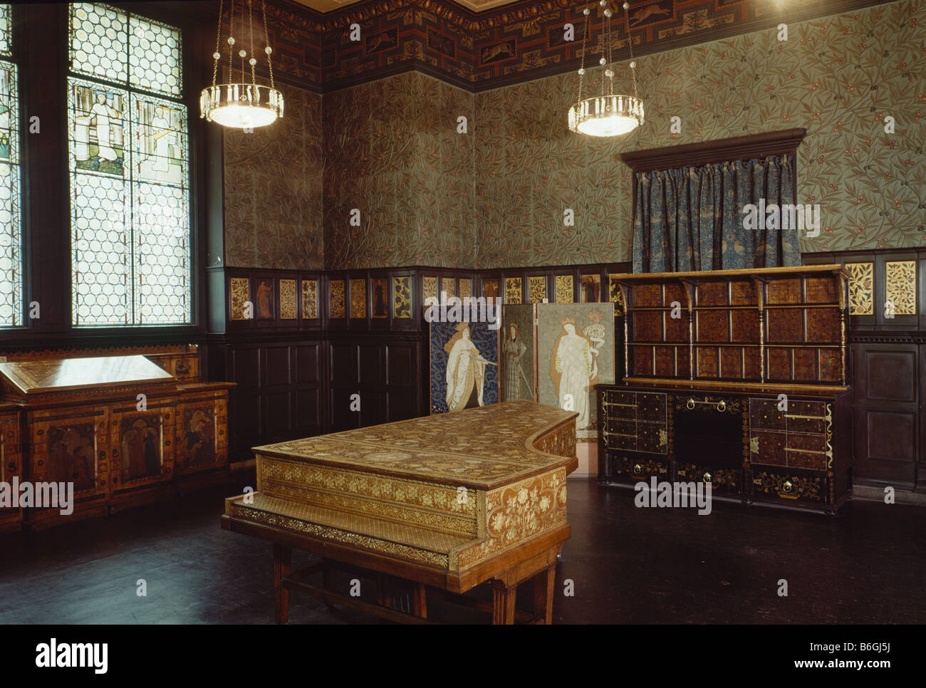 William Morris Room Stock Photo: 21263806