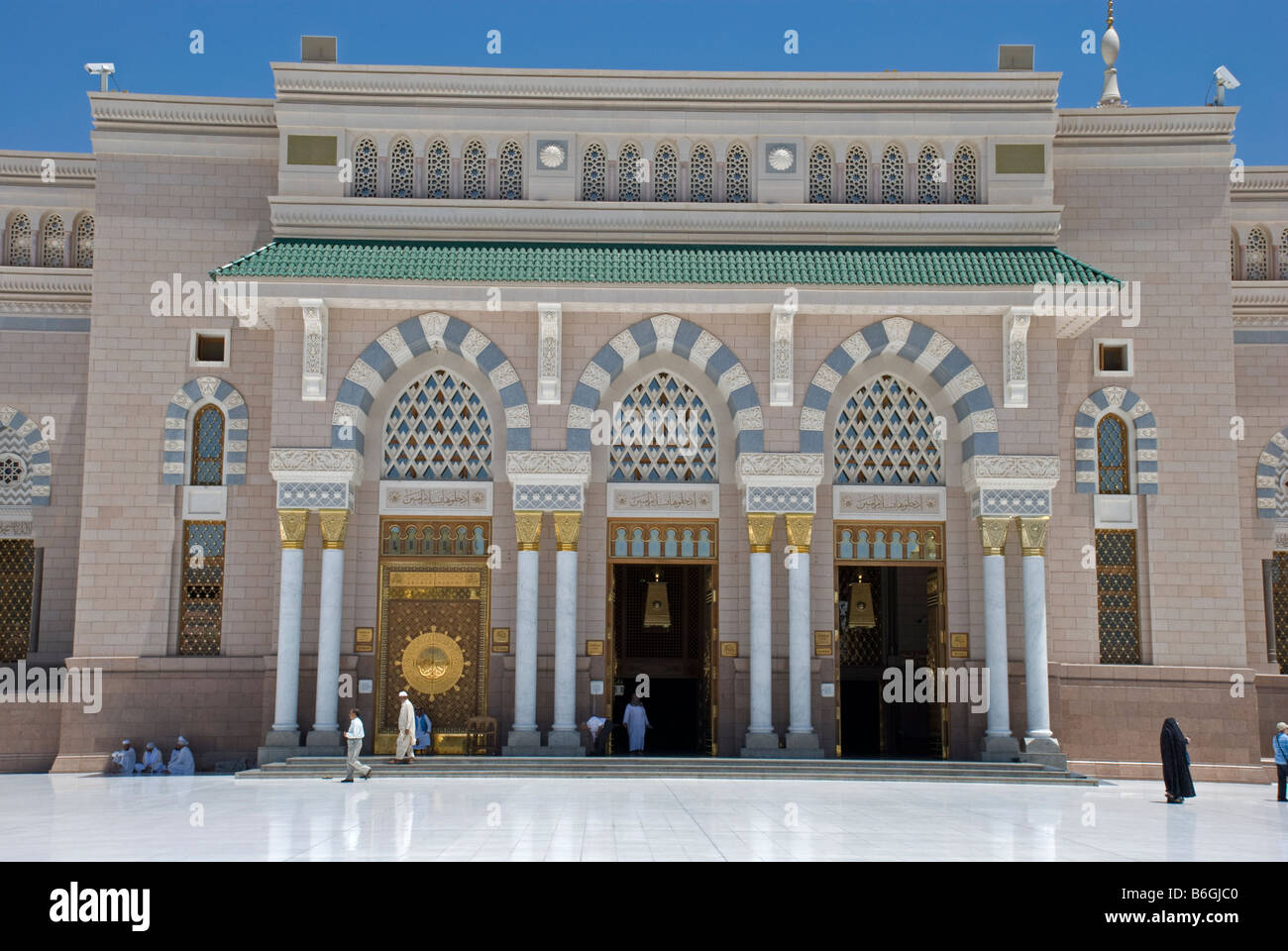Doors of the Makkah gate The Mosque of the Prophet Masjid al Nabawi Madinah Saudi Arabia & Doors of the Makkah gate The Mosque of the Prophet Masjid al Nabawi ...