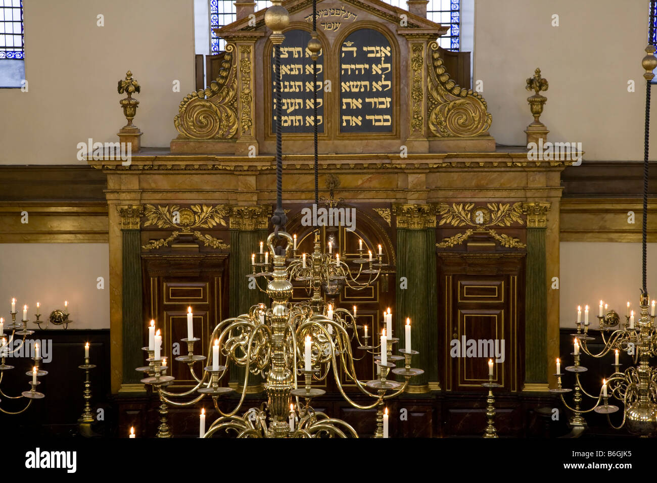 Interior Bevis Marks Synagogue London England