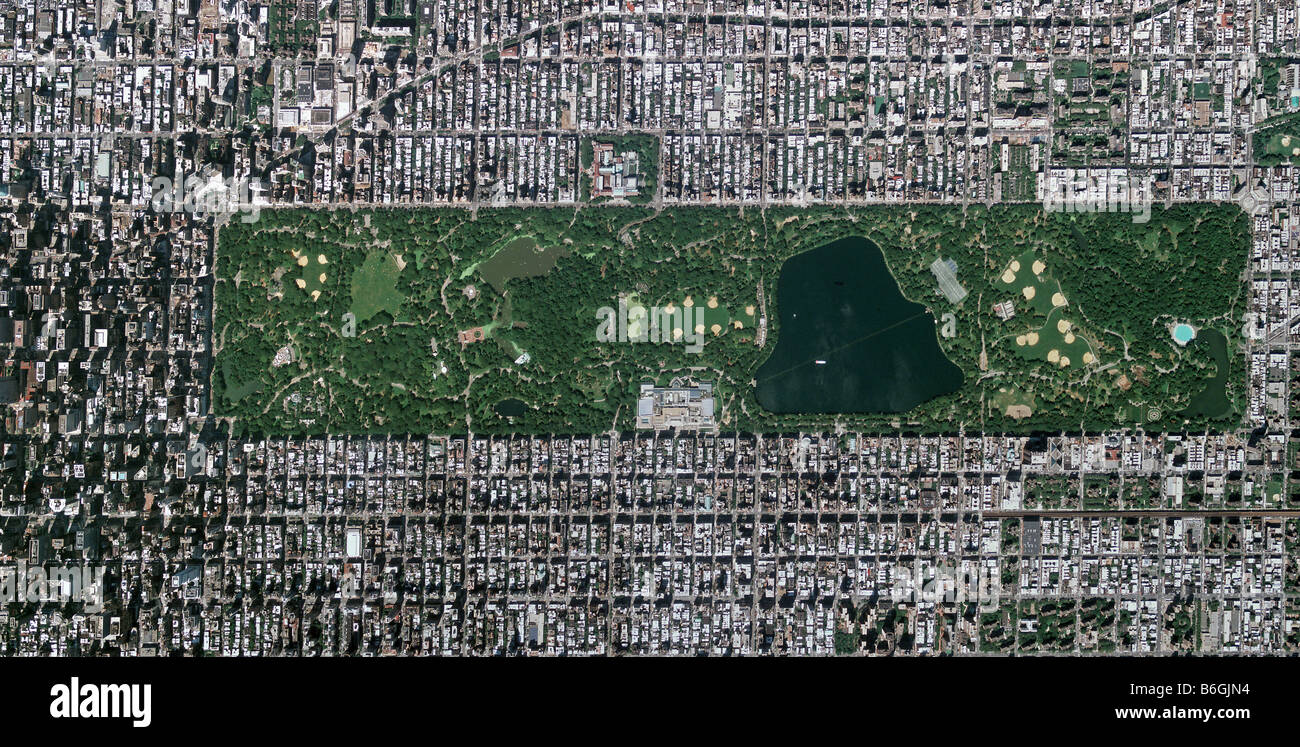 Central Park New York Map on