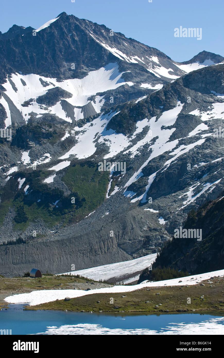 Russet Lake Cabin Whistler, BC - Stock Image
