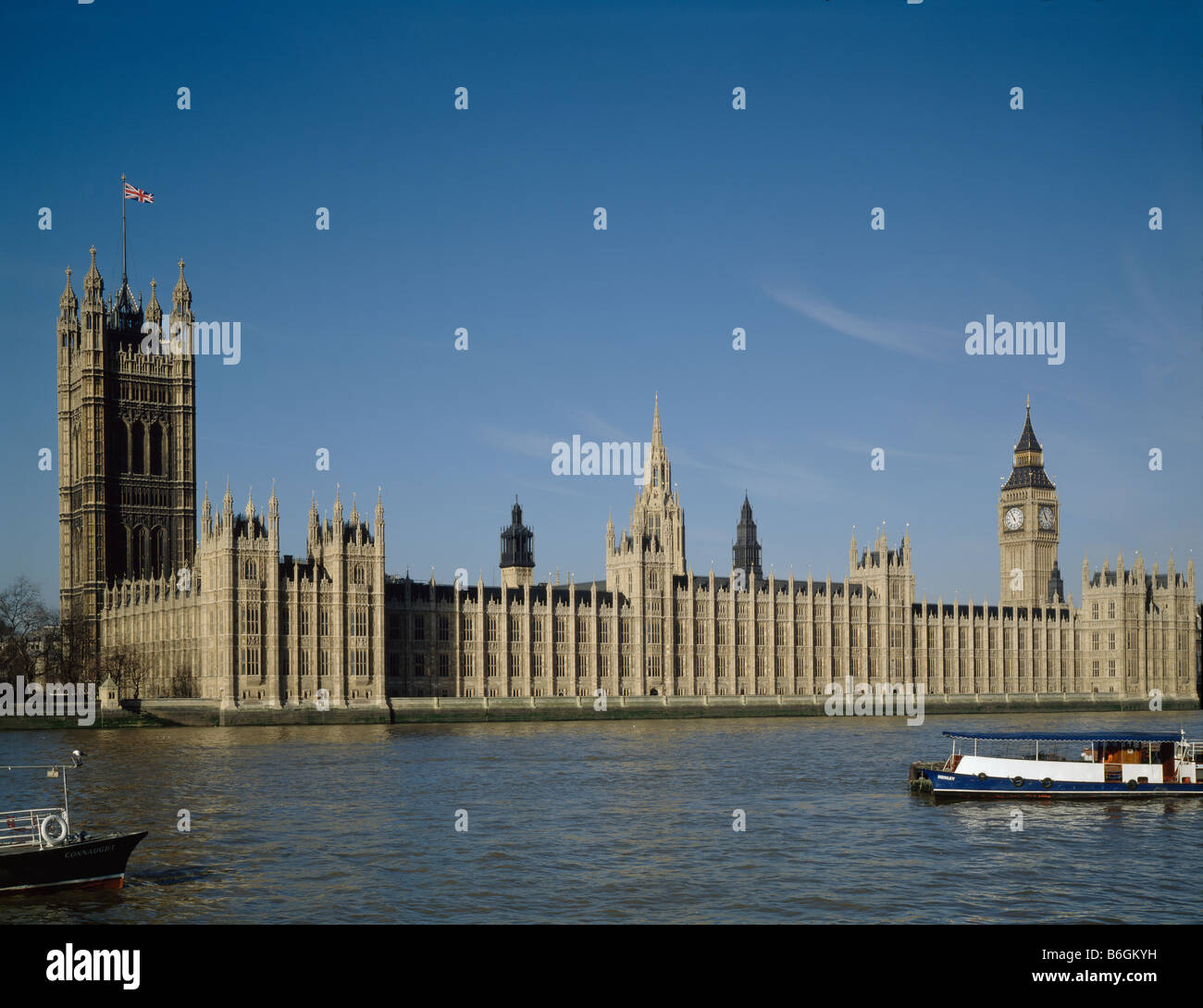 Houses of Parliament Palace of Westminster London Stock Photo