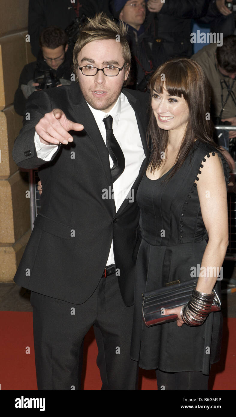 Danny Wallace attending the Premier of the Yes man Vue Cinema Leicester Square London - Stock Image