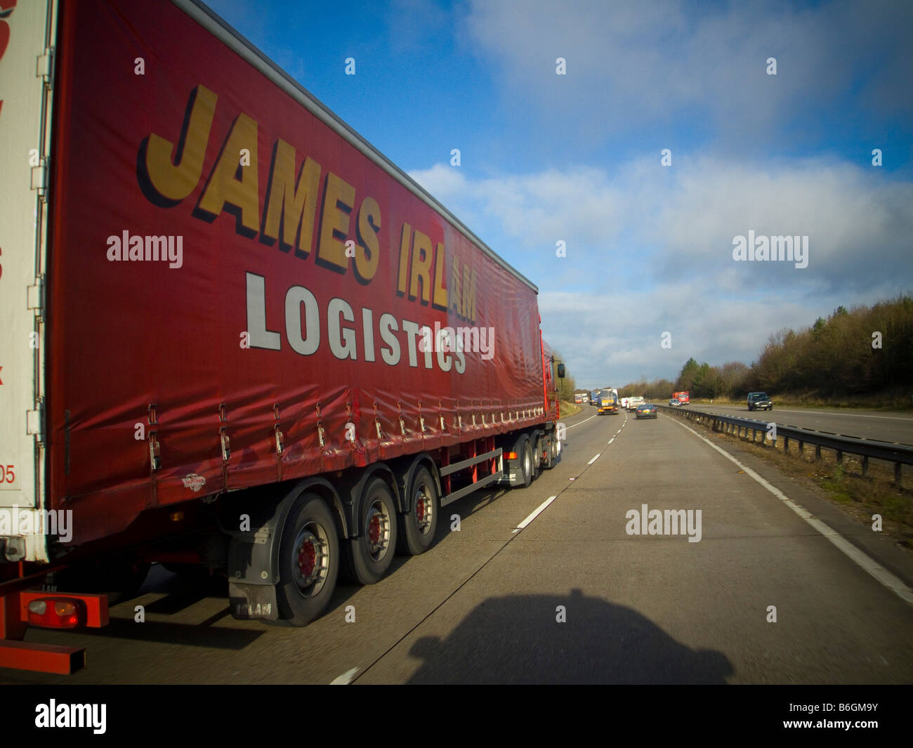 A James Irlam logistics Truck on the road - Stock Image