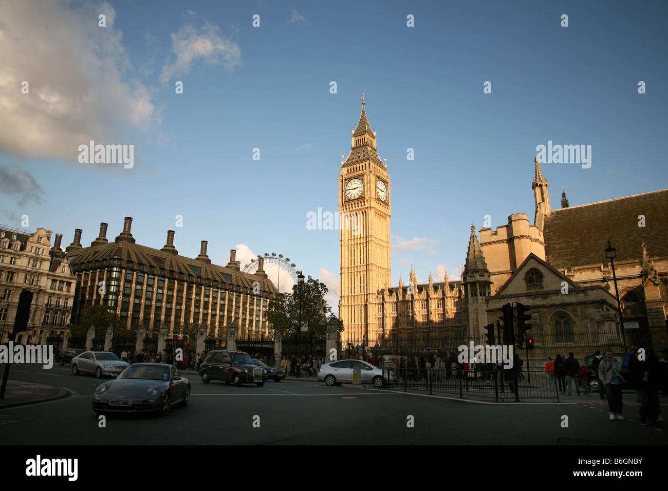 Portcullis House, London Eye & Big Ben - Stock Image