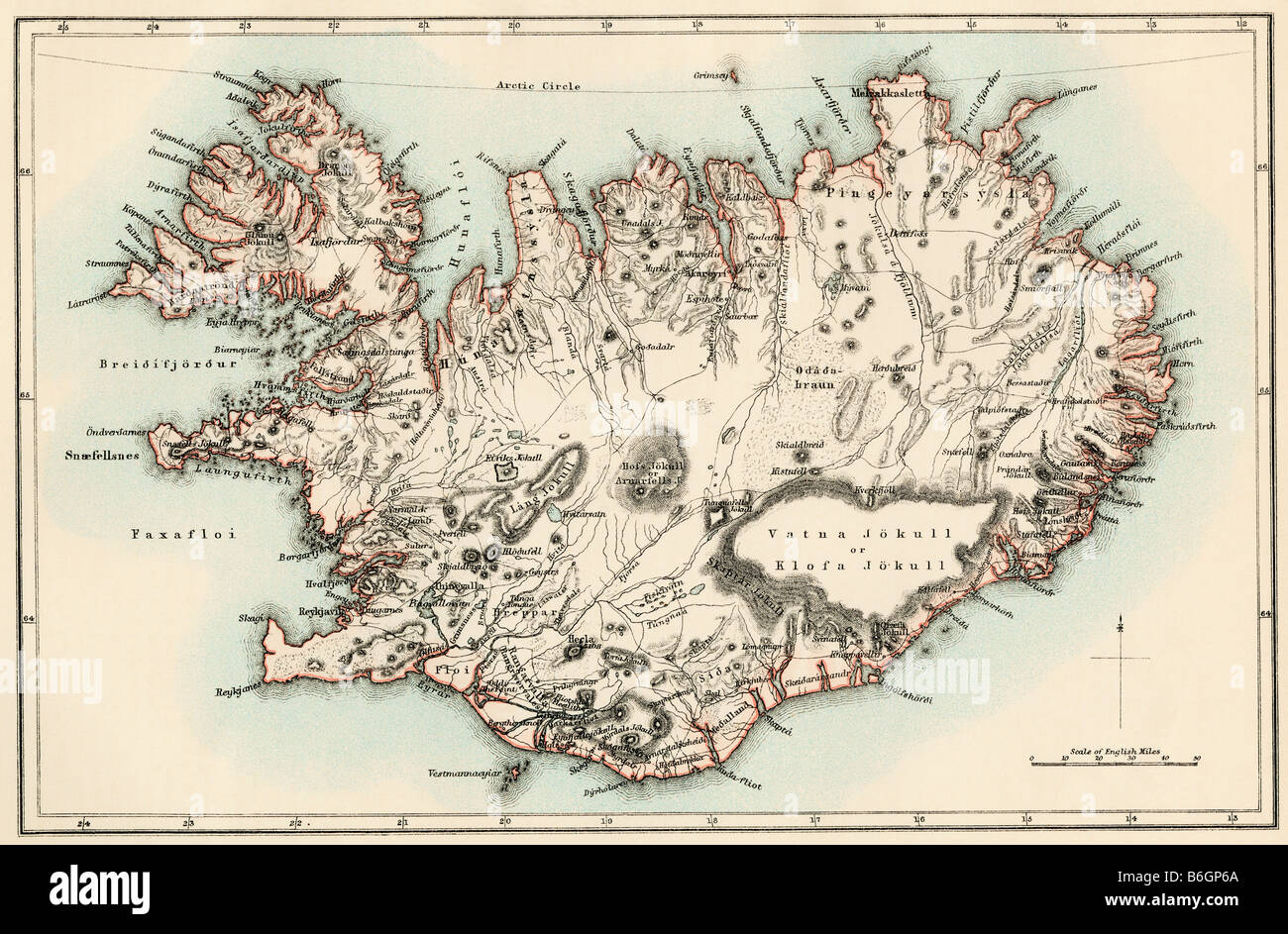 Map Iceland Stock Photos & Map Iceland Stock Images - Alamy