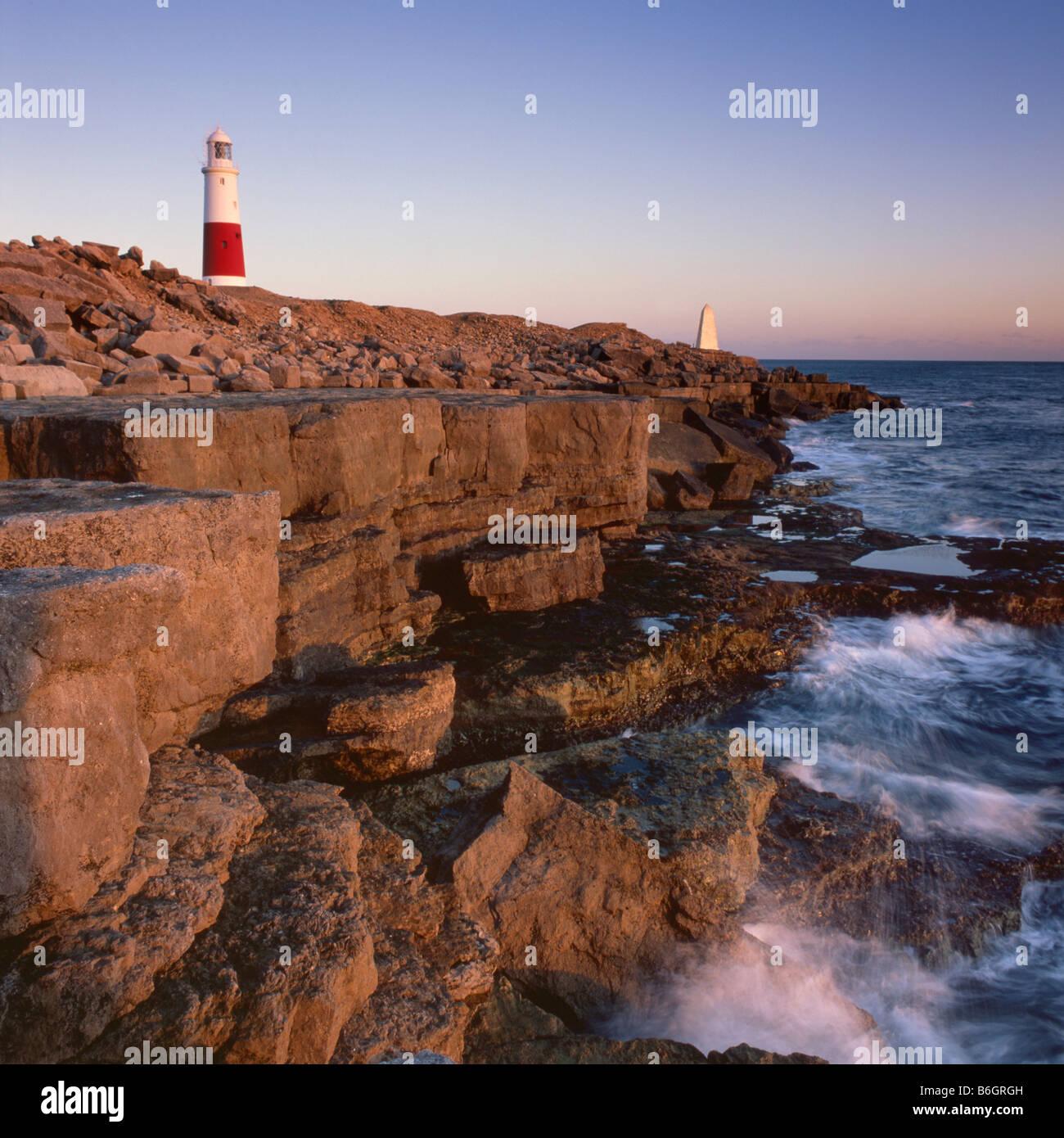 Lighthouse at Portland Bill, Isle of Portland, Dorset, England - Stock Image