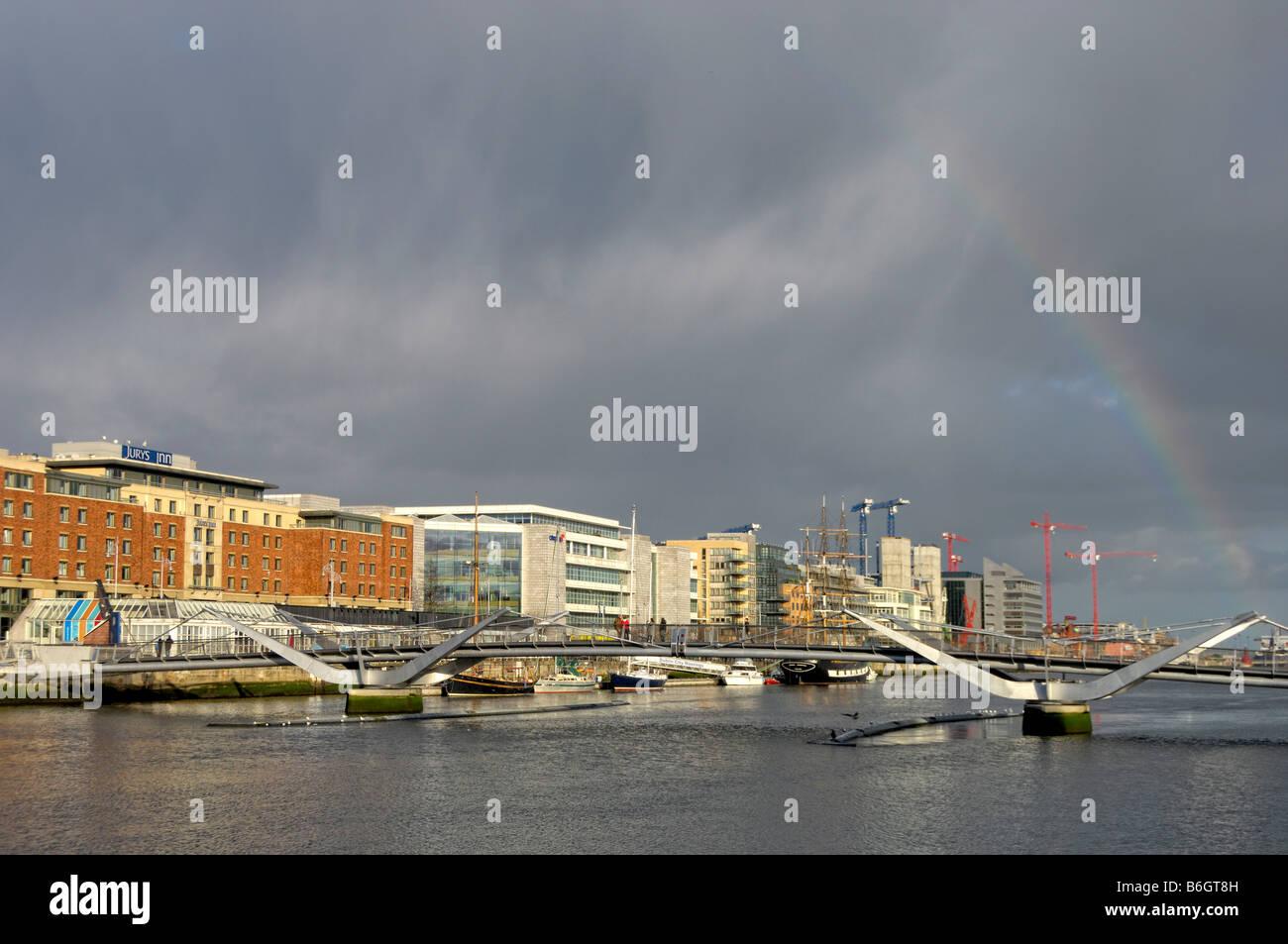 Seán O Casey Bridge Docklands Dublin - Stock Image