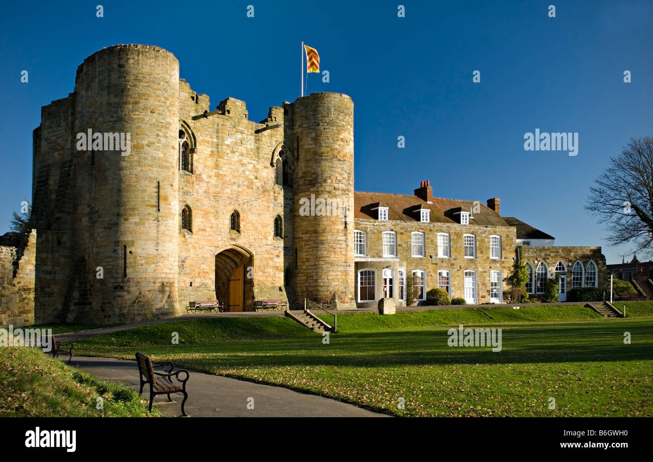 Tonbridge Castle, Tonbridge, Kent, England - Stock Image